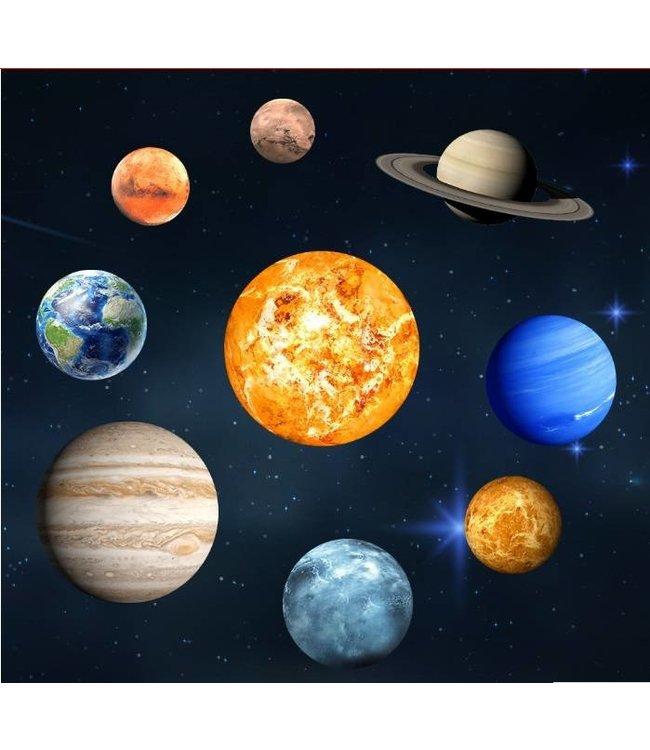 Muursticker glow in the dark planeten zonnestelsel