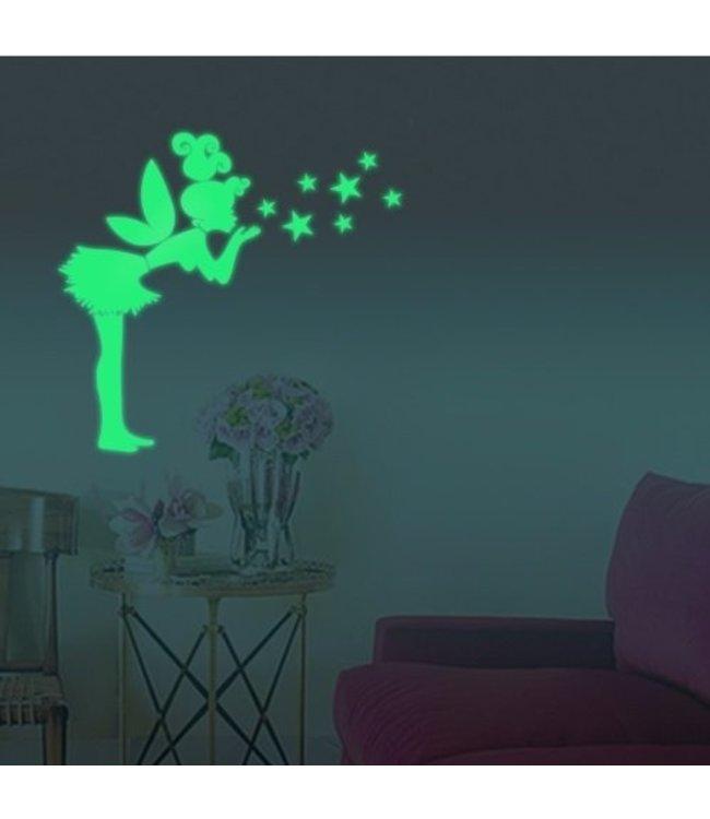 Muursticker glow in the dark elfje