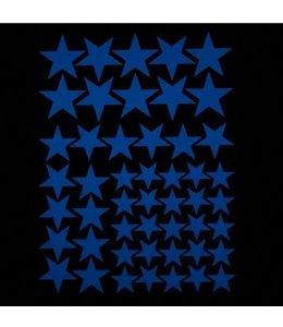 Muursticker glow in the dark sterren blauw