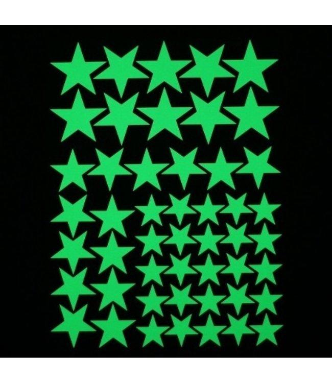 Muursticker glow in the dark sterren v3