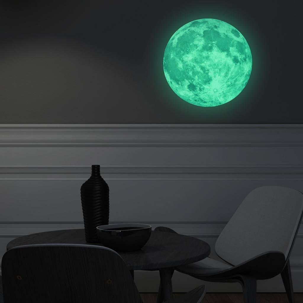 Muursticker glow in the dark maan