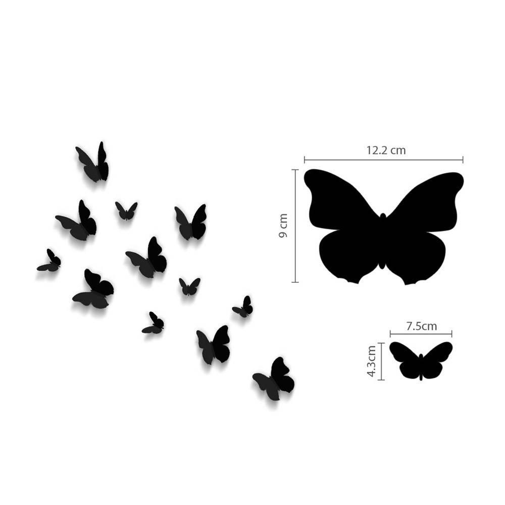 3D vlinders zwart - wit