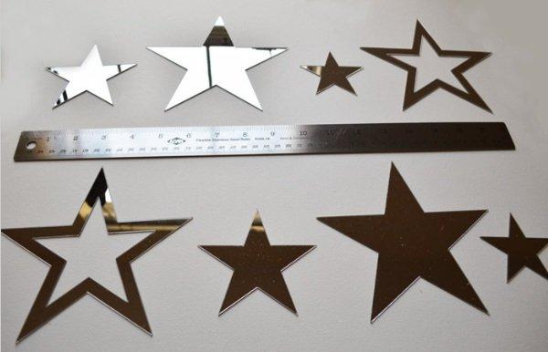 Muursticker spiegel sterren