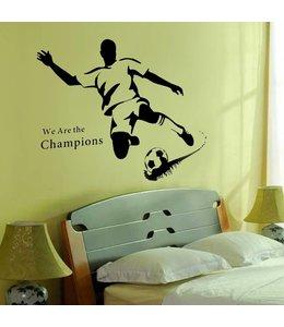 Muursticker voetballer