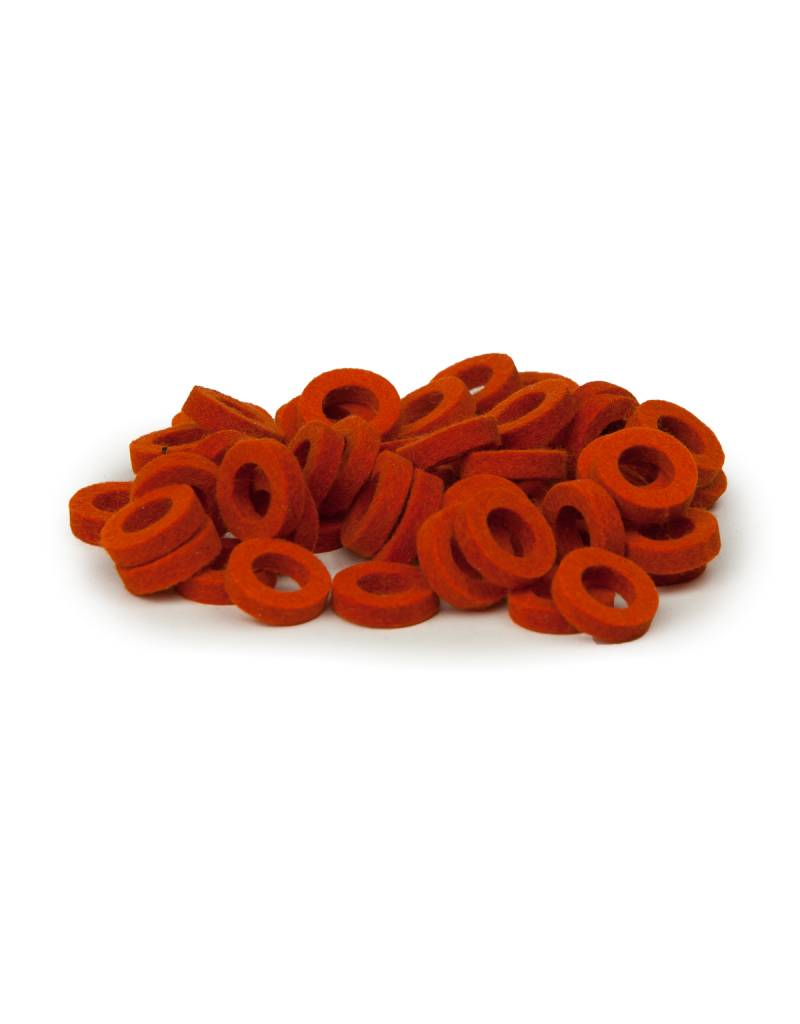 Natural Felt rings Orange