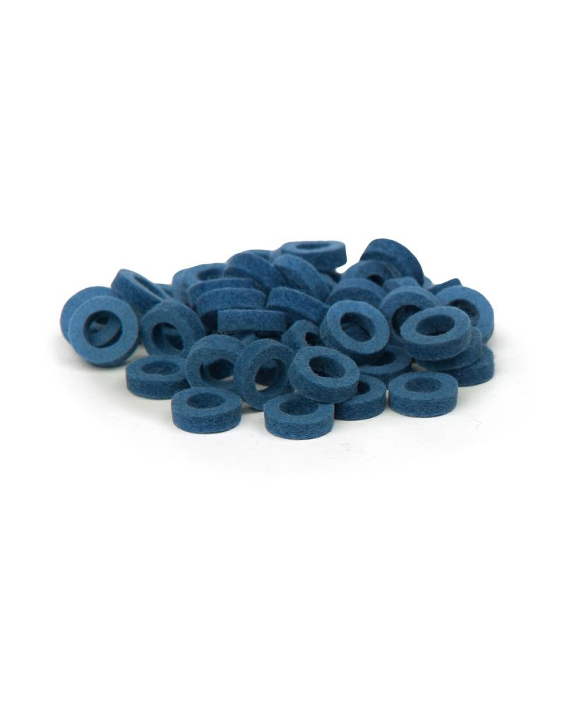 Natural Felt rings Middle Blue