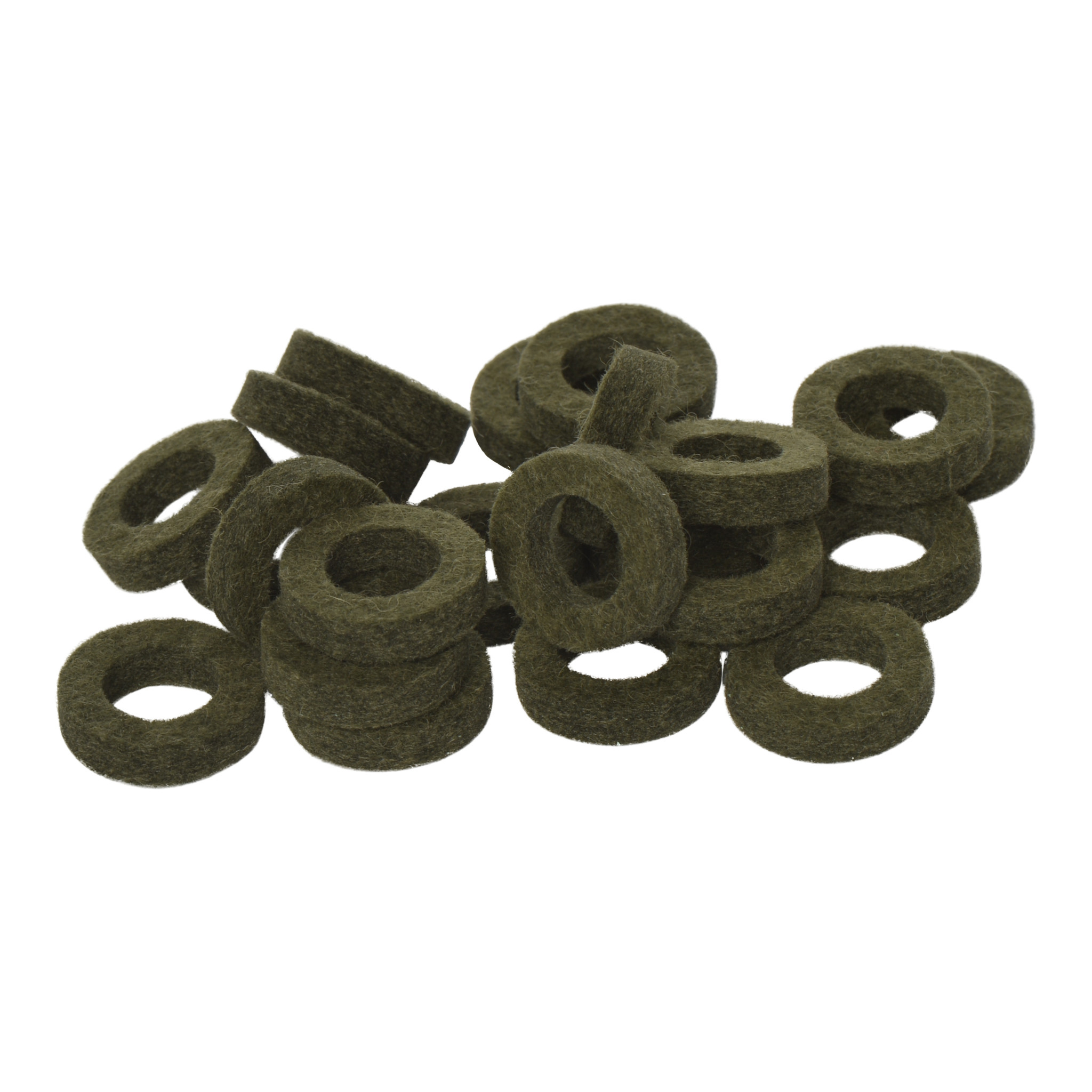 Natural Felt rings Tinged with Green