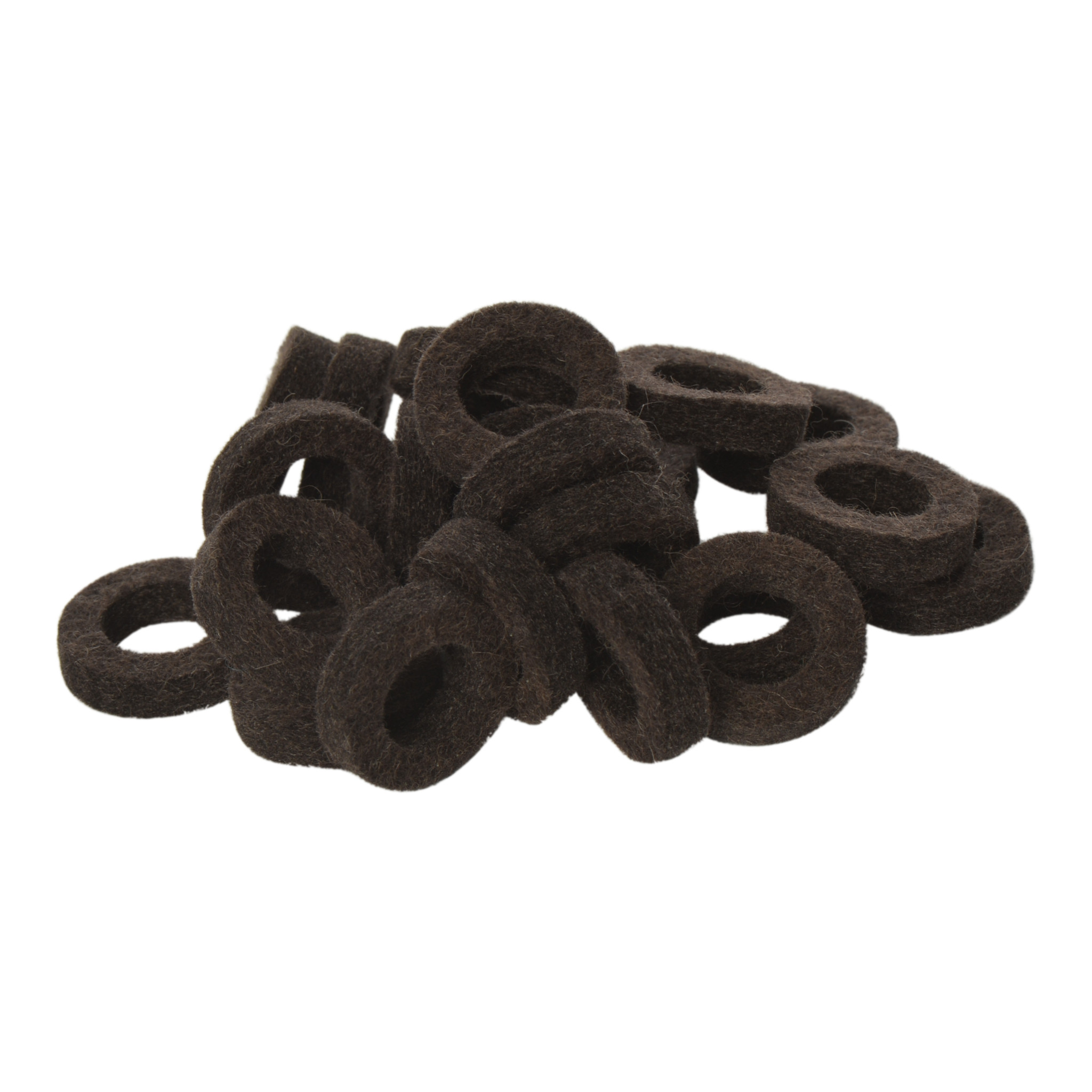 Natural Felt rings Tinged with Brown