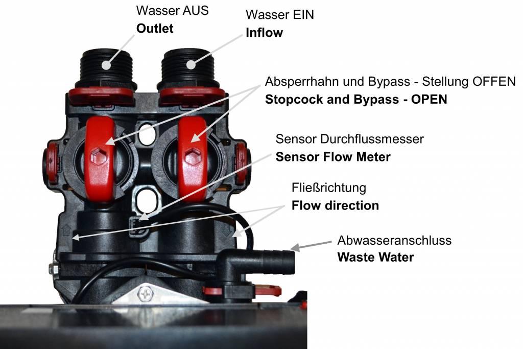 LFS CLEANTEC Wasserenthärter IWK 1800 - Entkalkungsanlage im platzsparenden Kabinettgehäuse