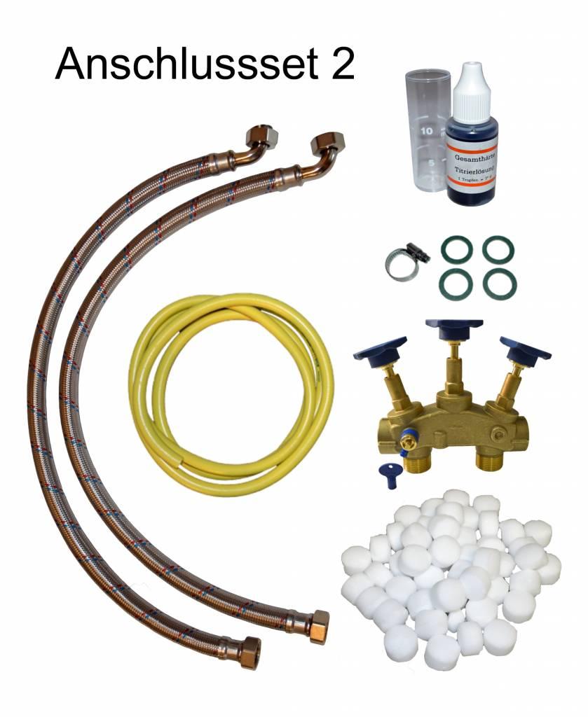 LFS CLEANTEC Wasserenthärter IWK 2500 - Entkalkungsanlage im platzsparenden Kabinettgehäuse