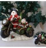 Lilia´s Figuren Schneemann Rider - Weihnachtsfigur perfekt für die Dekoration zu Heiligabend