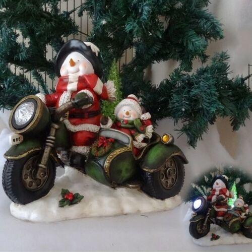 Schneemann Rider - Weihnachtsfigur perfekt für die Dekoration zu Heiligabend