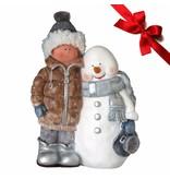 Lilia´s Figuren Schneemann Frosty - Weihnachtsfigur perfekt für die Dekoration zu Heiligabend