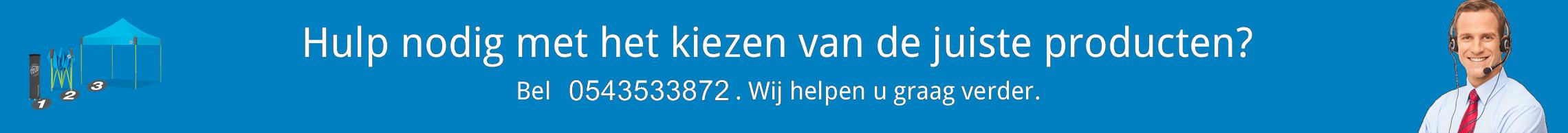Easyup vouwtenten Nr1 in Nederland.