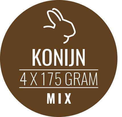 Konijn-mix 12 x 700gram