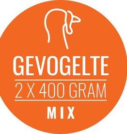 Gevogelte-mix 10 x 800gram