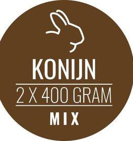 Konijn-mix 10 x 800gram