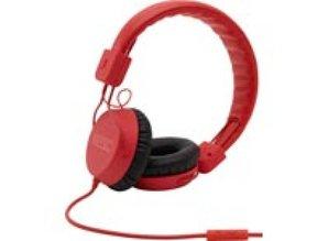 WeSC piston-bright-red-koptelefoon