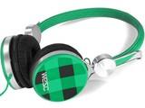 WeSC Banjo koptelefoon Checked Blanery Green
