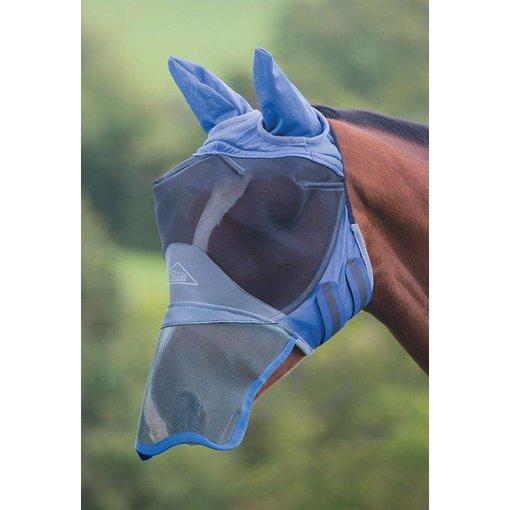 Shires Deluxe Fijnmazig Vliegenmasker met oren  en neus