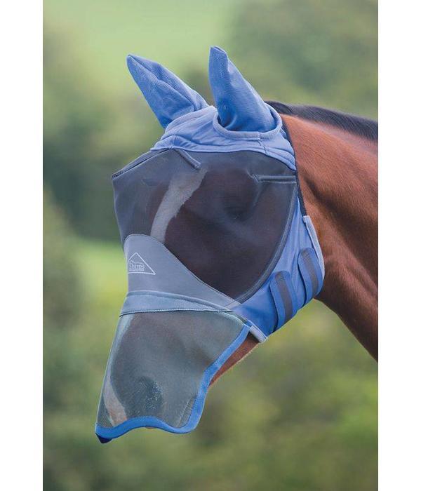 Shires Deluxe Fijnmazig Vliegenmasker met oren en neusflap