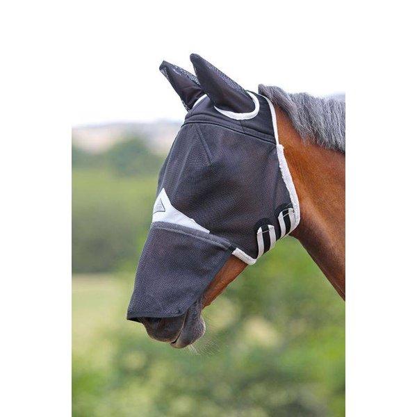 Sterk veld vliegenmasker met oren en neusflap