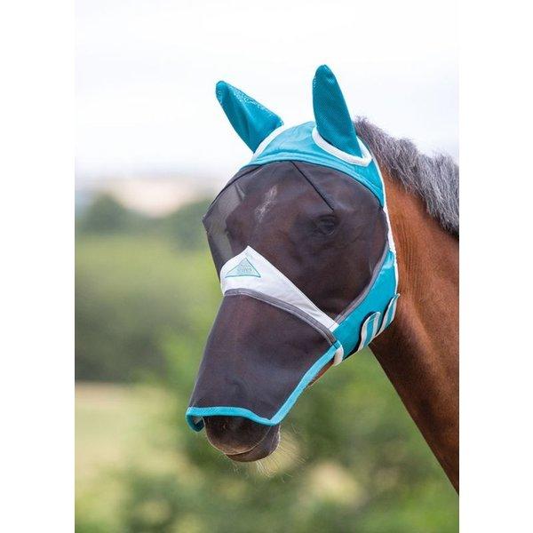 Fijnmazig Vliegenmasker met oren en neusflap