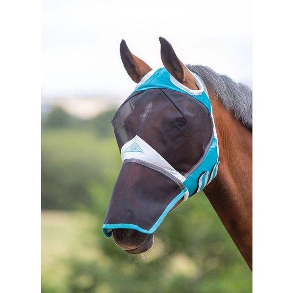 Fijnmazig Vliegenmasker met ooruitparingen en neusflap