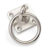 Shires Muurplaat met Ring en Meedraaiende Ringhouder