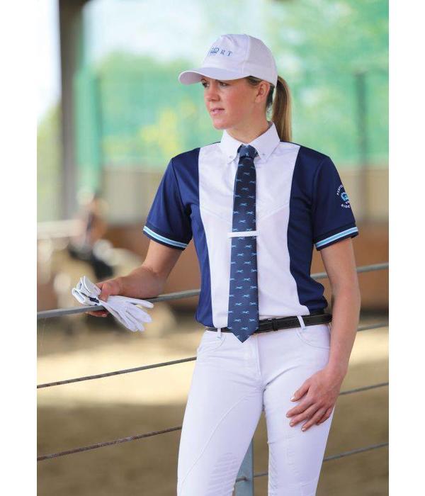 Shires Dames SPRT Tie Shirt met Korte Mouwen