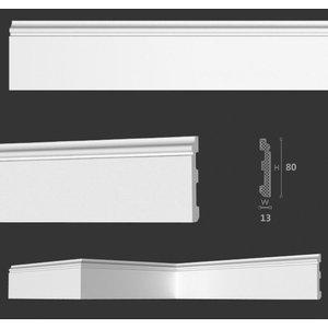 Homestar Fußleiste / Sockelleiste CF11 (80 x 13 mm), Länge 2 m