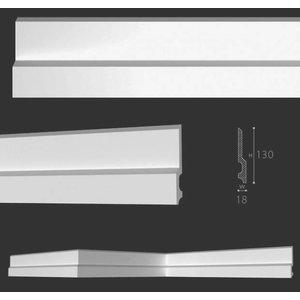 Homestar Fußleiste / Sockelleiste CF14 (130 x 18 mm), Länge 2 m