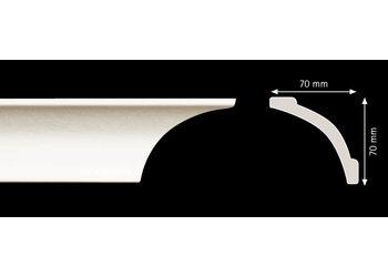 Homestar Stuckleisten Profilleiste A10 (70 x 70 mm), Länge 2 m