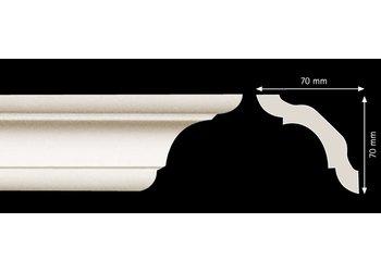Homestar Stuckleisten Profilleiste C100 (70 x 70 mm), Länge 2 m