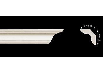 Homestar Stuckleisten Profilleiste C50 (37 x 37 mm), Länge 2 m