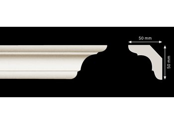 Homestar Stuckleisten Profilleiste C70 (50 x 50 mm), Länge 2 m