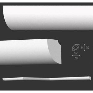 Homestar Stuckleisten Profilleiste D20 (20 x 20 mm), Länge 2 m