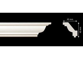 Homestar Stuckleisten Profilleiste JO (45 x 45 mm), Länge 2 m