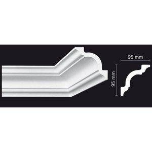 Homestar Stuckleisten Profilleiste K130 (95 x 95 mm), Länge 2 m