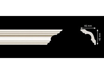 Homestar Stuckleisten Profilleiste K50 (46 x 46 mm), Länge 2 m