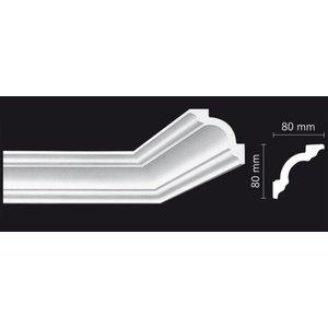 Homestar Stuckleisten Profilleiste K80 (80 x 80 mm), Länge 2 m