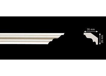 Homestar Stuckleisten Profilleiste M35 (26 x 35 mm), Länge 2 m