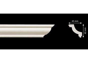 Homestar Stuckleisten Profilleiste O45 (40 x 45 mm), Länge 2 m