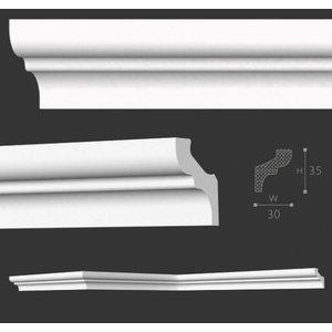 Homestar Stuckleisten Profilleiste S35 (35 x 35 mm), Länge 2 m