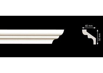 Homestar Stuckleisten Profilleiste S50 (50 x 40 mm), Länge 2 m