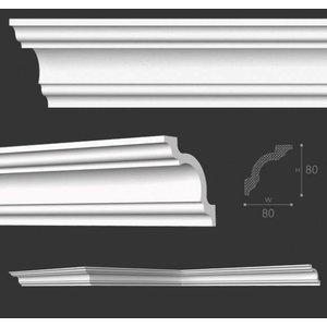 NMC Stuckleisten Profilleiste Nomastyl Plus A1 (80 x 80 mm), Länge 2 m