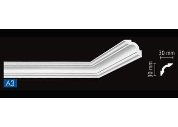 NMC Stuckleisten Profilleiste Nomastyl Plus A3 (30 x 30 mm), Länge 2 m