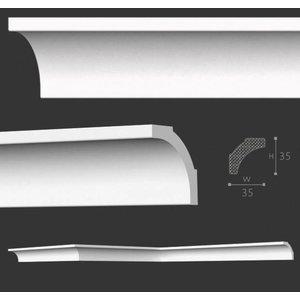 NMC Stuckleisten Profilleiste Nomastyl Plus B2 (35 x 35 mm), Länge 2 m