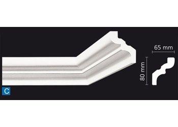 NMC Stuckleisten Profilleiste Nomastyl Plus C (80 x 65 mm), Länge 2 m