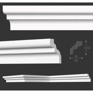 NMC Stuckleisten Profilleiste Nomastyl Plus D (50 x 40 mm), Länge 2 m
